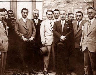 Adnan Menderes - Adnan Menderes and members of the Liberal Republican Party