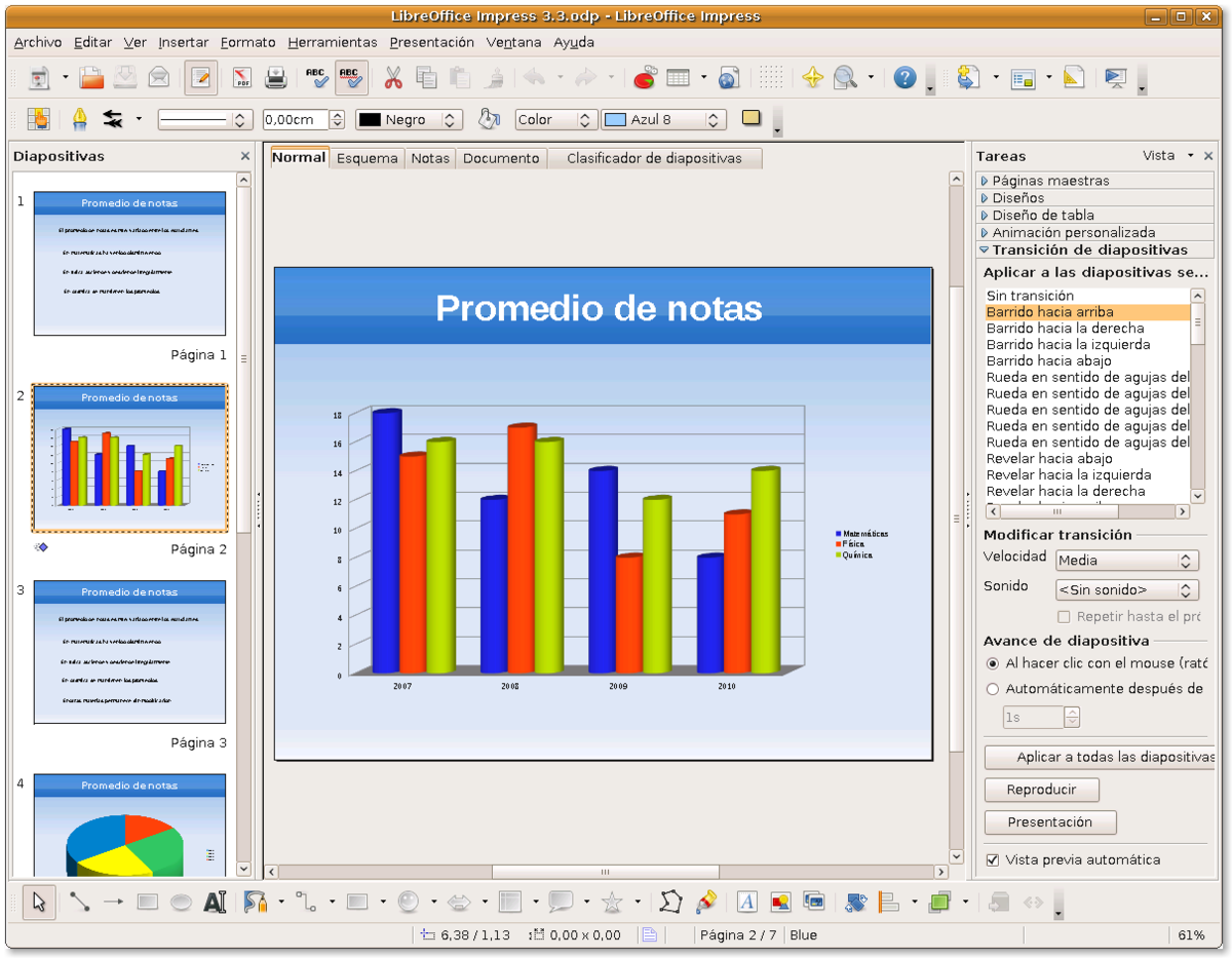 Libreoffice impress wikipedia la enciclopedia libre - Openoffice or libre office ...