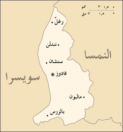 Liechtenstein Map arabic.png