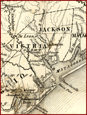 Great Raid of 1840 - Image: Linnville on Lavaca Bay