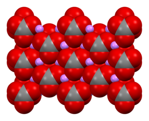 Lithium carbonate - Image: Lithium carbonate xtal 1979 Mercury 3D sf