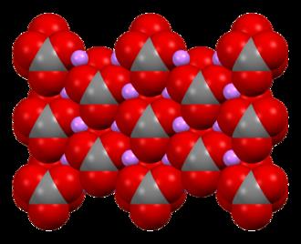 Lithium carbonate - Image: Lithium carbonate xtal 1979 Mercury 3D sf
