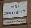 Livorno Piazza Giacomo Matteotti street name 01.JPG