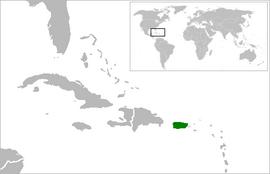 푸에르토리코의 위치