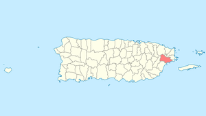 Location of Naguabo in Puerto Rico