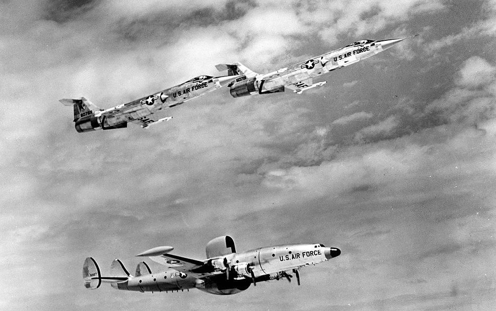 Lockheed F-104A & EC-121 060928-F-1234S-010