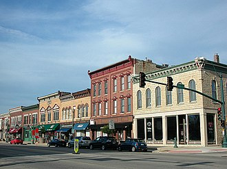 Lockport, Illinois - A portion of downtown Lockport, 2010