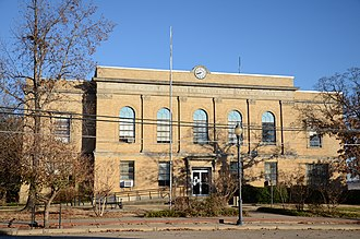 Booneville, Arkansas - Logan County Courthouse, Southern District in downtown Booneville