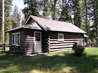 Logging Creek Ranger Station Historic District Ranger station in Glacier National Park