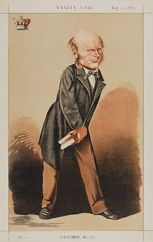 "Granville Waldegrave, 3rd Baron Radstock - ""D.V."" Lord Radstock as caricatured by  Adriano Cecioni in Vanity Fair, August 1872"