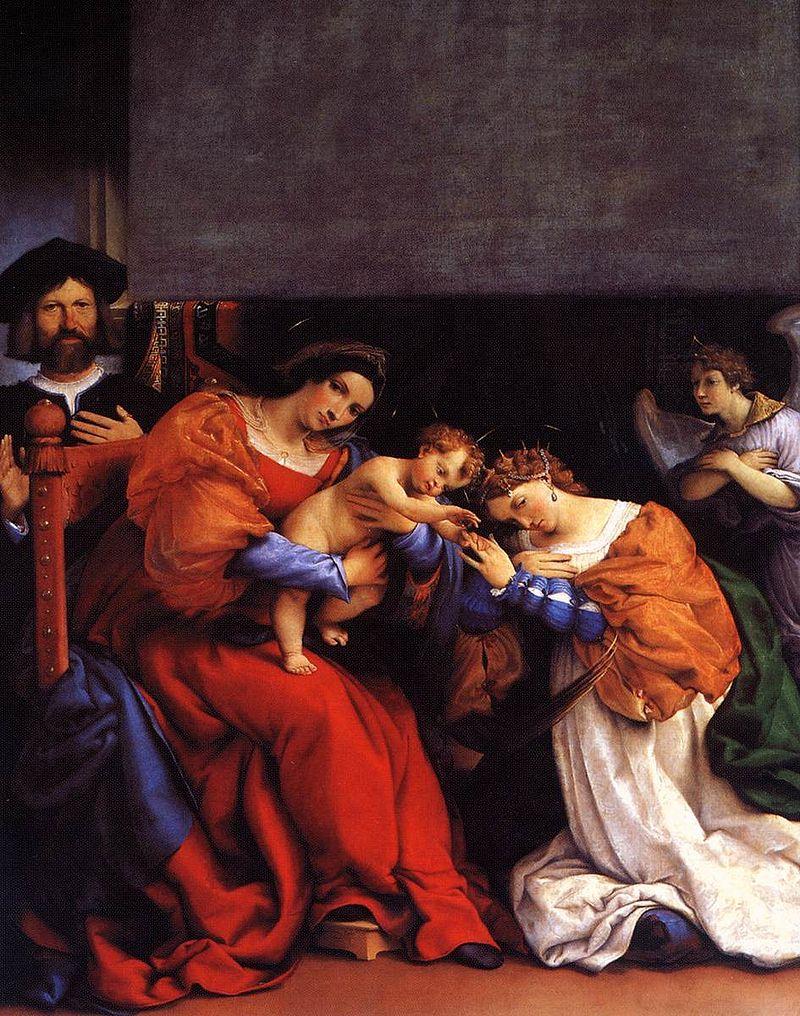 Lorenzo Lotto - The Mystic Marriage of St Catherine - WGA13684.jpg