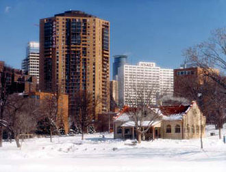 Loring Park - Image: Loring Park Winter Minneapolis MN