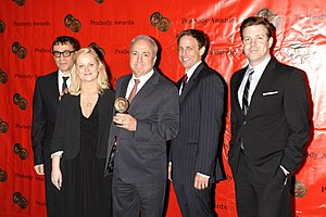 Saturday Night Live - Lorne Michaels and the cast of Saturday Night Live at the 68th Annual Peabody Awards for Political Satire 2008