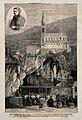 Lourdes, Haute Pyrénées, France; pilgrims praying in front o Wellcome V0012868.jpg