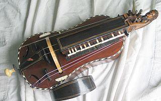 A hurdy-gurdy.