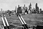 Lower Manhattan viewes from USS Wisconsin (BB-64) 1951.jpg