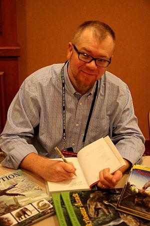 Daniel Loxton - Loxton at book signing TAM 2013