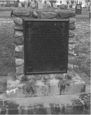 Middleton, Nova Scotia - Monument to Loyalists Timothy Ruggles, Samuel Bayard of the King's Orange Rangers and Major Thomas Barkclay of the Loyal American Regiment, Middleton Park, Middleton, Nova Scotia