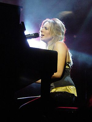 """Lucie Silvas - Lucie performing in her """"The Same Side"""" album launch in 2006."""