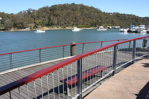 Lugarno, New South Wales - Boardwalk and Lugarno Marina on Georges River