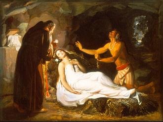 Atala (novella) - Últimos momentos de Atala by Luis Monroy, 1871