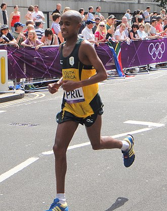 South Africa at the 2012 Summer Olympics - Lusapho April in men's marathon