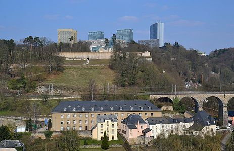 Luxembourg City - view to Kirchberg