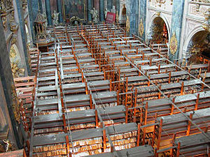 Ossolineum - The Church of Society of Jesus, in which was a collection of press that was not bequeathed to Poland