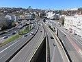 Lyon - Autoroute A6 direction tunnel de Fourvière depuis les Jardins de Perrache (mars 2019).jpg