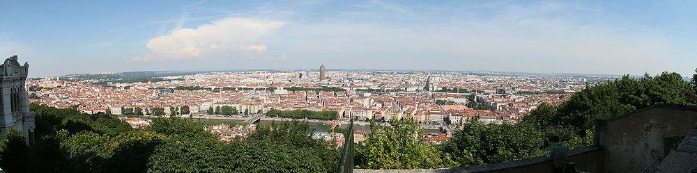 Afmeting Schiereiland Keuken : Panoramisch zicht op Lyon, vanaf de Fourvi?re .
