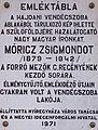 Móricz Zsigmond emléktábla, Városháza, 2017 Nyíregyháza (cropped).jpg