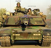 M1A1 Abrams with descriptions