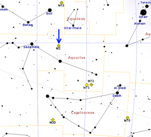 Messier 2 - Image: M2map