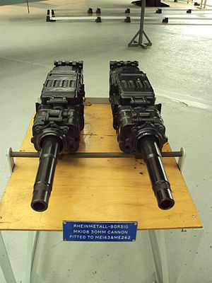 MK 108 cannon - Two MK 108 autocannons, RAF Museum Cosford (2010)