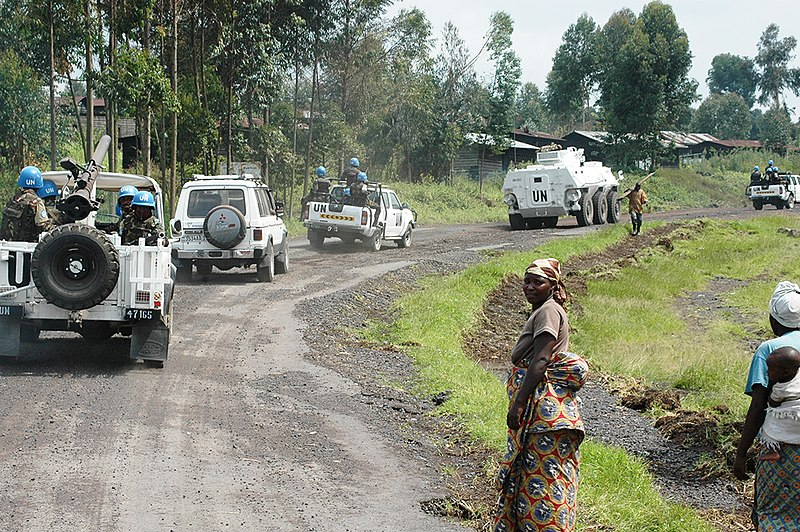 File:MONUSCO Force Intervention Brigade patrol on the main road connecting the towns of Sake and Kibati.jpg