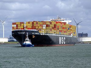 MSC Pamela p07, at the Amazone harbour, Port of Rotterdam, Holland 29-Jul-2007.jpg