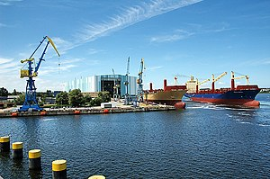 STX Europe - Photo from Wadan Yards in Wismar, Germany, previously partly owned by STX Europe