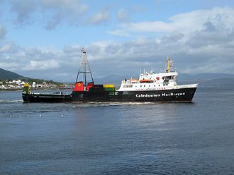 Caledonian MacBrayne - MV Jupiter leaving Dunoon