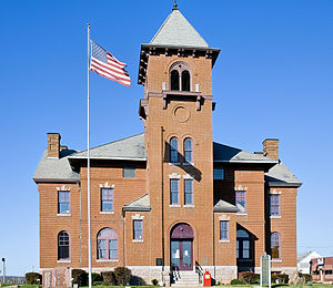 National Register of Historic Places listings in Madison County, Missouri - Image: Madison County Missouri Courthouse at Fredericktown, MO USA