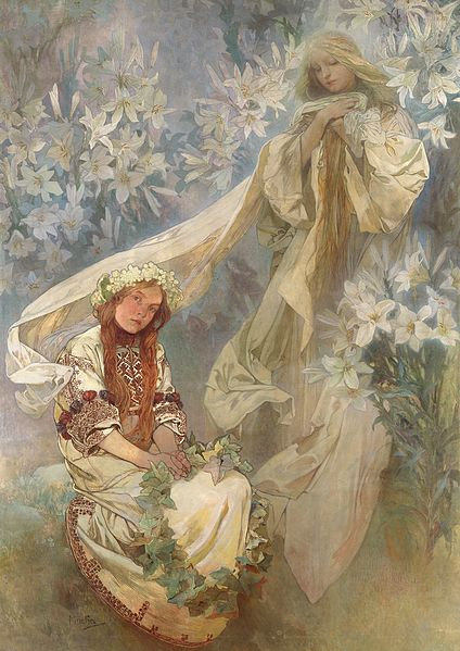 File:Madonna of the Lilies (1905) - Alfons Mucha.jpg