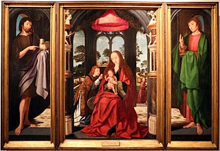 Triptych of the Virgin with the Child and Angels, St. John the Baptist and St. John the Evangelist