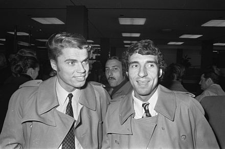 Roger Magnusson and Bernard Bosquier in 1971 - Olympique de Marseille