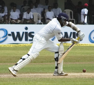 Mahela Jayawardene - Jayawardene batting in a Test match for Sri Lanka in 2008