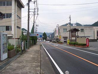 Mimasaka, Okayama - Main street in Ohara Mimasaka