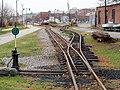 Maine Narrow Gauge Railroad tracks near Thames Street, November 2016.JPG