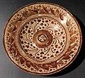 Maiolica ispano-moresca, piatto a lustro, catalogna 1470-1500 ca.jpg