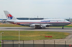 Boeing 747-400 de Malaysia Airlines.