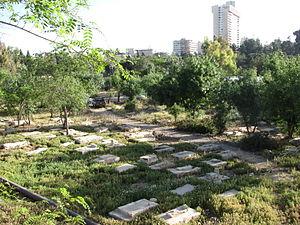 Mamilla Cemetery - Partial view of Mamilla Cemetery