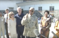 Mandela speaks to media after presenting Clinton's with quarried rock A.png