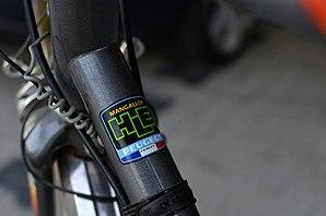 Mangalloy - Label on a bicycle frame indicating mangalloy